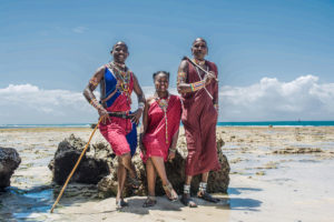Maasai-men-and-lady-showcasing-their-traditional-dress-code-to-the-tourist-attracted-place-Mombasa-Kenya-