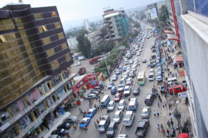 Public-transport-cars-busy-in-the-strrets-of-Addis.